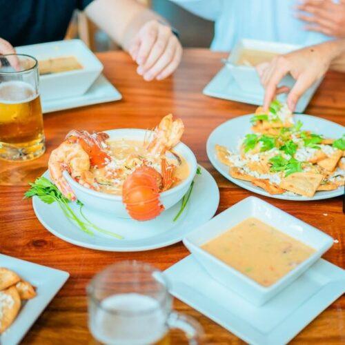 Mesa en Restaurante Garita Palmera El Salvador